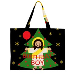 Jesus   Christmas Zipper Large Tote Bag
