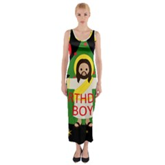 Jesus   Christmas Fitted Maxi Dress