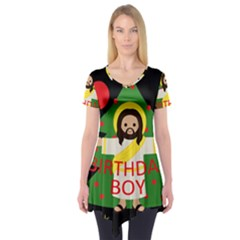 Jesus   Christmas Short Sleeve Tunic
