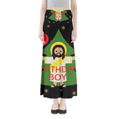 Jesus   Christmas Full Length Maxi Skirt