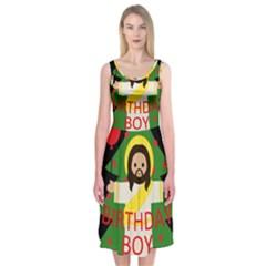 Jesus   Christmas Midi Sleeveless Dress