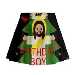 Jesus   Christmas Mini Flare Skirt