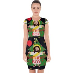 Jesus   Christmas Capsleeve Drawstring Dress