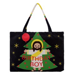 Jesus   Christmas Medium Tote Bag