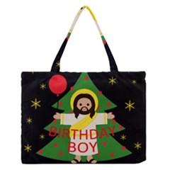 Jesus   Christmas Zipper Medium Tote Bag