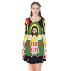 Jesus   Christmas Flare Dress