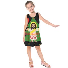 Jesus   Christmas Kids  Sleeveless Dress