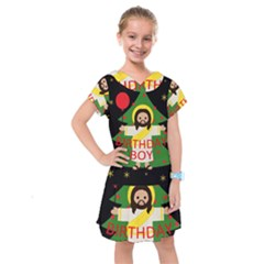 Jesus   Christmas Kids  Drop Waist Dress