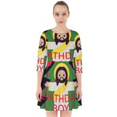 Jesus   Christmas Smock Dress