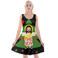 Jesus   Christmas Reversible Velvet Sleeveless Dress