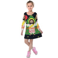 Jesus   Christmas Kids  Long Sleeve Velvet Dress