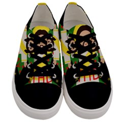Jesus   Christmas Men s Low Top Canvas Sneakers