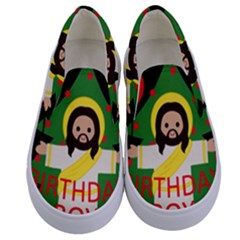 Jesus   Christmas Kids  Canvas Slip Ons