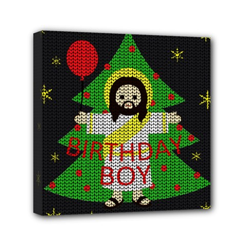 Jesus   Christmas Mini Canvas 6  X 6