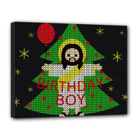 Jesus   Christmas Canvas 14  X 11