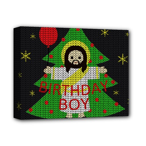 Jesus   Christmas Deluxe Canvas 14  X 11