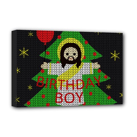 Jesus   Christmas Deluxe Canvas 18  X 12