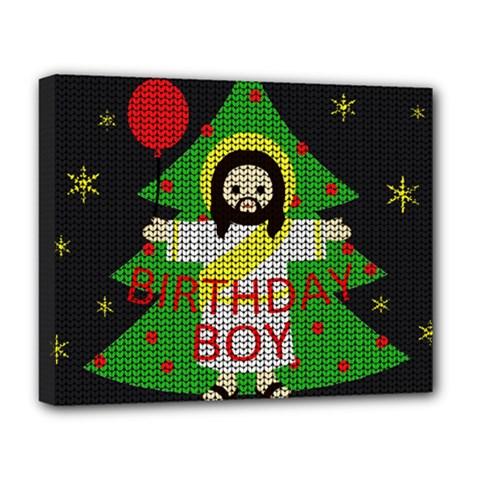Jesus   Christmas Deluxe Canvas 20  X 16