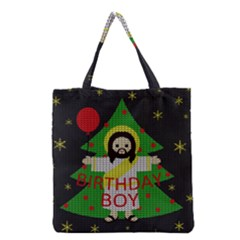 Jesus   Christmas Grocery Tote Bag