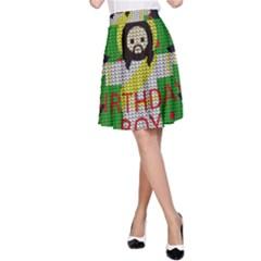 Jesus   Christmas A Line Skirt