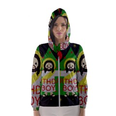 Jesus   Christmas Hooded Wind Breaker (women)
