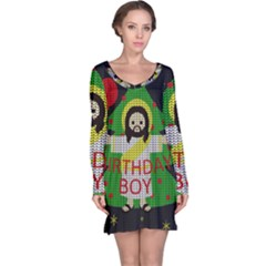 Jesus   Christmas Long Sleeve Nightdress