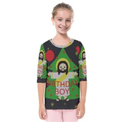 Jesus   Christmas Kids  Quarter Sleeve Raglan Tee