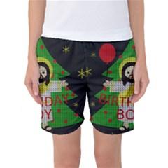 Jesus   Christmas Women s Basketball Shorts