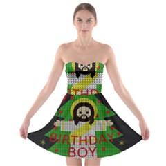 Jesus   Christmas Strapless Bra Top Dress