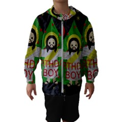 Jesus   Christmas Hooded Wind Breaker (kids)
