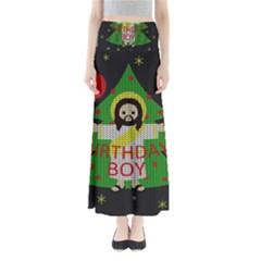 Jesus   Christmas Full Length Maxi Skirt
