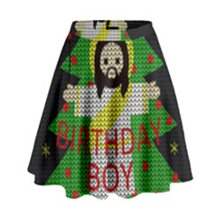 Jesus   Christmas High Waist Skirt