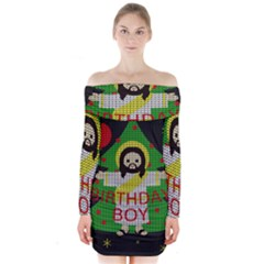 Jesus   Christmas Long Sleeve Off Shoulder Dress