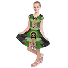 Jesus   Christmas Kids  Short Sleeve Dress