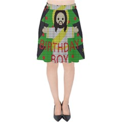 Jesus   Christmas Velvet High Waist Skirt