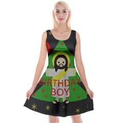 Jesus   Christmas Reversible Velvet Sleeveless Dress