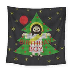 Jesus   Christmas Square Tapestry (large)