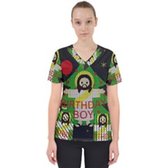 Jesus   Christmas Scrub Top