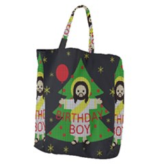 Jesus   Christmas Giant Grocery Zipper Tote