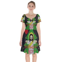 Jesus   Christmas Short Sleeve Bardot Dress