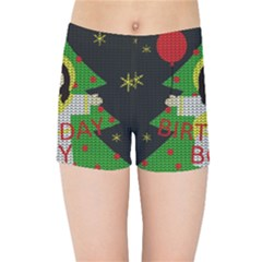 Jesus   Christmas Kids Sports Shorts