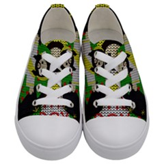 Jesus   Christmas Kids  Low Top Canvas Sneakers