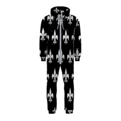 Royal1 Black Marble & White Leather Hooded Jumpsuit (kids)