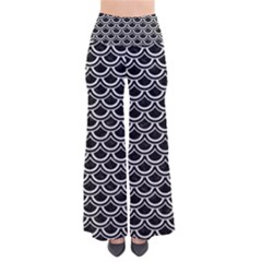 Scales2 Black Marble & White Leather (r) Pants