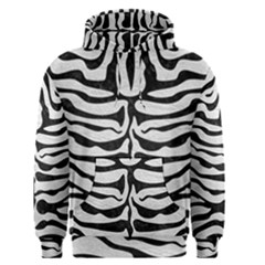 Skin2 Black Marble & White Leather Men s Pullover Hoodie