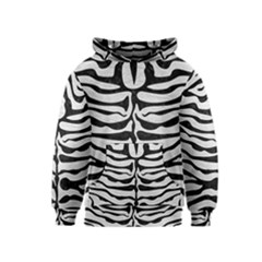 Skin2 Black Marble & White Leather Kids  Pullover Hoodie
