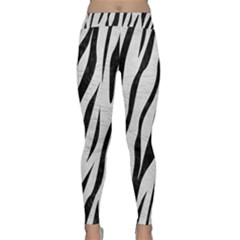 Skin3 Black Marble & White Leather Classic Yoga Leggings