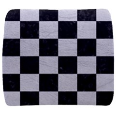 Square1 Black Marble & White Leather Back Support Cushion