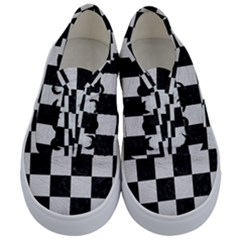 Square1 Black Marble & White Leather Kids  Classic Low Top Sneakers