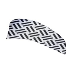 Woven2 Black Marble & White Leather Stretchable Headband